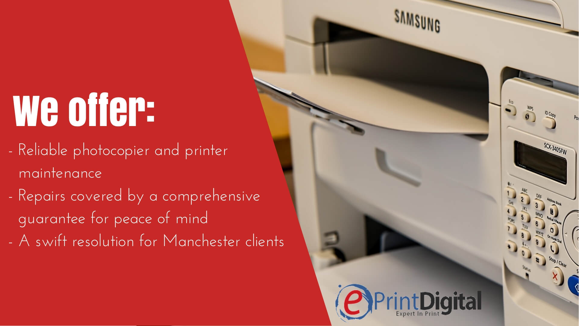 Photocopier Repairs and Printer Maintenance in Manchester